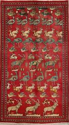 Unparalleled! Animal Pictorial 5x10 Wool Oriental Rug 9'10