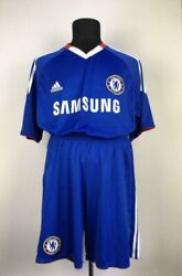 Chelsea 2010/2011 Home Football Kit Soccer Jersey And Shorts England Adidas L