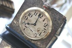Shreve And Co Waltham Antique Sterling Silver 100 8 Day Travel Clock