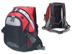 COLLEGE BACKPACK BOOK BAGS IN RED SILVER amp; BLACK $17.50