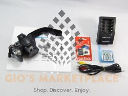 Canon Powershot Digital Camera S5 Is 8.0 Mp 12x Zoom + Batteries Charger Sd Cord