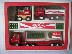 Vintage Coca Cola Tin Toy Trucks Cyrillic Made In Bulgaria