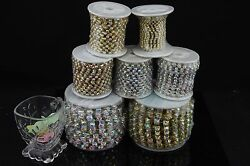 10 Yard Ss6/ss8/ss10/ss12/ss16/ss18 Ab Rhinestone Chain Silver Gold Sew On Trims