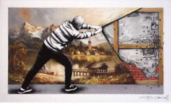 Martin Whatson And Pez Behind The Curtain Collab The Wall Like Banksy Obey