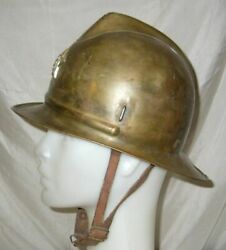 Rare Wwii Fire Forces Bulgarian Firefighter Helmet With Early Communist Badge