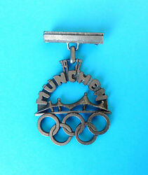 Olympic Games Munich 1972 Vintage Olympics Pin Badge Munchen '72 Large Size