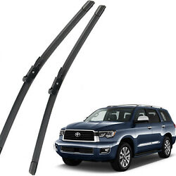 New OEM Set Front Windshield Wiper Blades For 08-2019 TOYOTA Sequoia Full Series