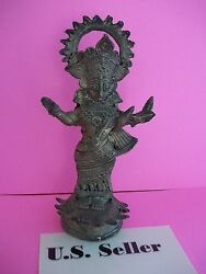 Beautiful and Delicate Antique Statue of Goddess Durga Mata Made of Brass US