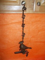 Hanging Antique Peacock Oil Lamp From India made in the 16 to 18 Century US Sell