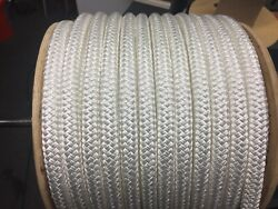 7/8 Andldquo Polyester Double Braid Rope 300 Andlsquowhite