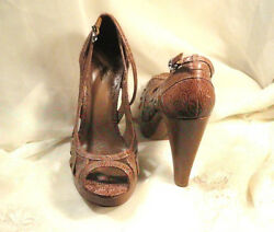 Womens Shoes - Vince Camuto High Heel Platform Leather Shoes