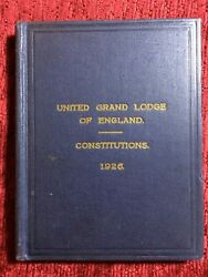 United Grand Lodge Of England Constitutions - 1926