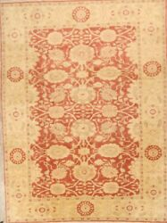 New Handmade 225 Knots Oushak Egypt Oriental All Over Floral Wool Area Rug 9x12