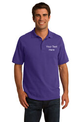 Personalized Embroidered Emblem Men Polo Shirt Custom For Work Uniform $18.00