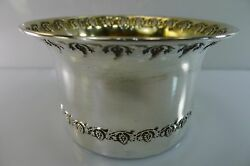 SILVER 800 & HALLMARKED RARE WINE BOTTLE HOLDER GRAPE BUNCHES & LEAVES DECORATED