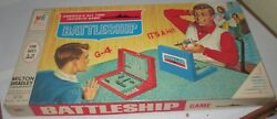 Vintage Original 1967 Battleship Board Game Used Sexist Cover Rare Family Fun