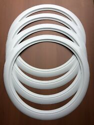 Universal 17 Rubber White Wall Port A Wall Set 4 Fits Vw New Beetle More Cars