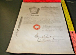 Grand Lodge Of Mark Masters Of England 1843 Promotion Document