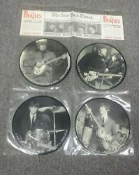 The Beatles Vintage Interview Photo Picture Disc Collection 45s Records