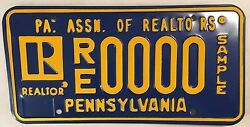 Pa Realtor Real Estate Agent License Plate Sample Realty Re/max Sothebyand039s Era 21