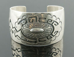 Hyson Craig Navajo Remarkably Designed 925 Cuff With Very Fine Detail 87.8g