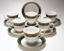 Set Of 6 Lenox Classic Edition Pattern Cups And Saucers 320h