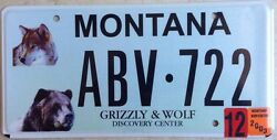 Yellowstone Wildlife Park Grizzly Wolf Center License Plate Bear National Animal