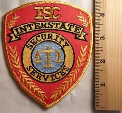 Isc Interstate Security Services Patch Highway Patrol Sheriff Ems