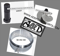 Seadoo Spark Impeller Wear Ring And Removal Tool Kit Wr001 Sk-cd-13/18 Sk-hs-140