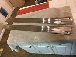 1948-49 Cadillac Convertible Or Coupe Deville Interior Door Stainless Nos Pair