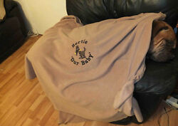 Top Quality Personalise Tailor Made Fleece Dog Blanket- Many Breeds Catered For