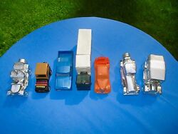 Lot Of 7 Avon Figural Bottles For Avon Aftershave. Truck And Car Bottles.