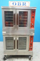 VULCAN NATURAL GAS DOUBLE STACK CONVECTION OVEN MODEL SG4D-1