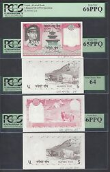 Nepal 4 Progressive Proofs 5 Rupees Nd1985 P23p-23s Uncirculated