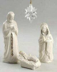 Lenox China 4 Piece China Jewels Holy Family And Crystal Star - Discontinued