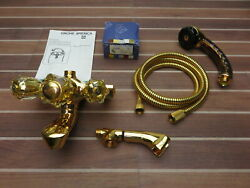 Grohe 34540 34540g00 Grohmix Gold Wall Mount Bath Tub Faucet And Hand Shower