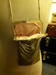 Handbag Vintage Evening Gold Tone Chain Mesh Lined Whiting amp; Davis Brand $30.00