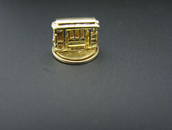 C725 Moveable Charm Trolley Car Spins Around In 14k Yellow Gold