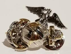 Usmc Anchor And Globe Silver And Gold Colored Pin 1-1/8 Lot Of 30