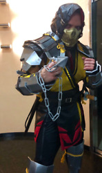 Mk 11 Mortal Kombat Scorpion Costume With Armour ,mask And Weapons