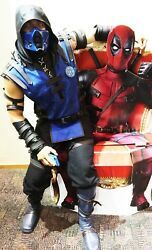 Sub Zero Mk Costume With Mask And Emblem And Boots