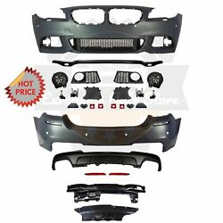 Bmw F10 Msport Style Front And Rear Performance Bumper For 11-13 Bmw F10 550 Pdc
