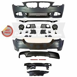 Bmw F10 Msport Style Front And Rear Performance Bumper For 11-13 Bmw 528i No Pdc