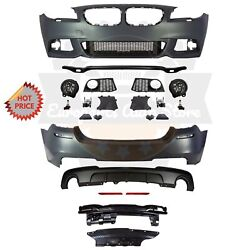 Bmw F10 Msport Style Front And Rear Performance Bumper For 11-13 Bmw 535i No Pdc