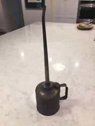 Beautiful Large Big 20 Inch Vintage Oil Oiler Can Nxs 3884