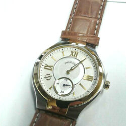 Philip Stein Two Tone Yellow Gold Classic Round Large Men's Watch 42tg-silg