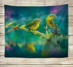 birds animal wall hanging tapestry window curtain decoration