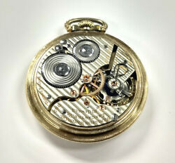 Vintage Railroad Pocket Watch Hamilton Grade 992 As Is Gold Filled