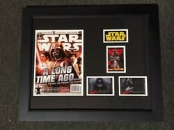 Framed Star Wars James Earl Jones Signed Autograph Comic And Cards