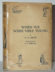 When We Were Very Young 1st/1st Edition W. Original Jacket A.a.milne